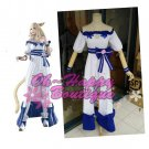 Final Fantasy XIV lolita dress white and blue game cosplay costume