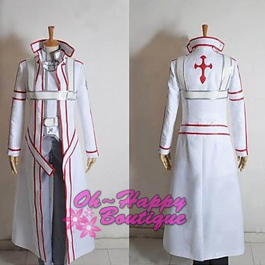 Sword Art Online Knights of the Blood Oath Kirito Cosplay Costume men outfit