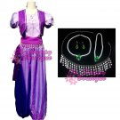 free shipping shimmer and shine cosplay costume women adult princess dress up purple costume