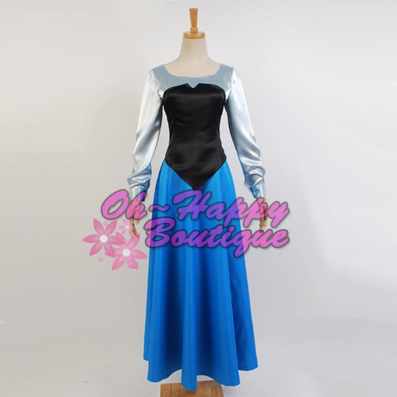 custom made The Little Mermaid Princess Ariel dress blue Adult girl