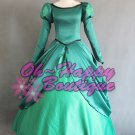 The Little Mermaid Princess Ariel dress green cosplay costume