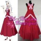 Fairy Tail Mirajane Strauss Cosplay Costume pink red dress