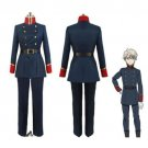 Aldnoah Zero Slaine Cosplay Costume blue men custom made