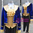 Movie Beauty and the Beast Prince Tuxedo Cosplay Costume For Adult Men