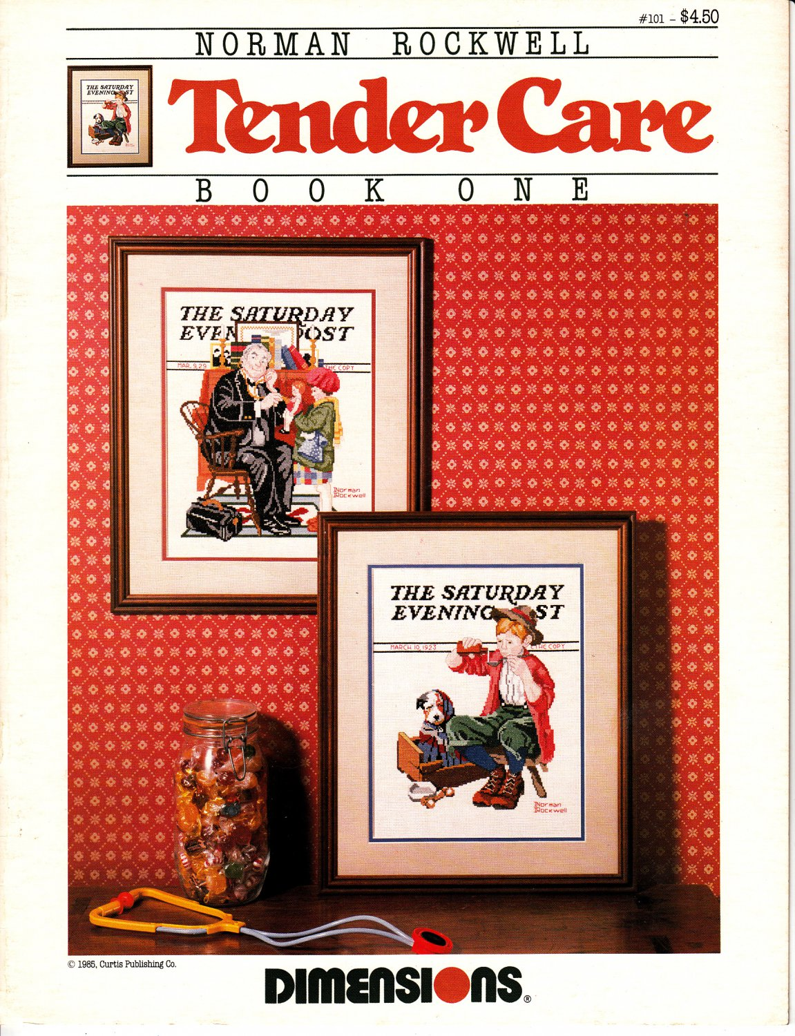 Norman Rockwell's Tender Care Book One (Dimensions Cross Stitch Bklt, 1985)