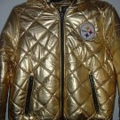 Pittsburgh Steelers Lady's XL Gold Jacket NWT
