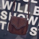 Dark brown Synthetic Leather Weave Hollow Soft Flap Casual Outdoor Shoulder Bag