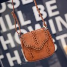 Light brown Synthetic Leather Weave Hollow Soft Flap Casual Outdoor Shoulder Bag