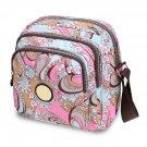 Type 1 Nylon Small Square Floral Print One Shoulder Bag Messenger Bag
