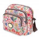 Type 2 Nylon Small Square Floral Print One Shoulder Bag Messenger Bag