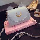 Gray Cosplay PU Leather Women Girls Handbag Shoulder Bags