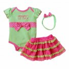 Polka Dot Baby Lil Princess 3Pcs Tutu Set