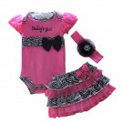 Sweet Pink Daddy's Girl's Tutu Set
