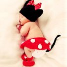 Cute Minnie Mouse Baby Photography Crochet Costume