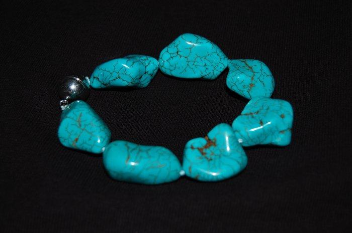 Chunky Turquoise Bracelet B1038