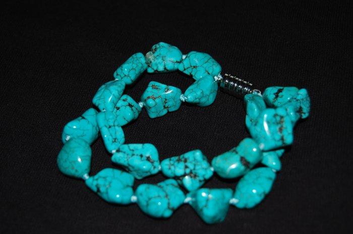 Turquoise nugget Bracelet B1034