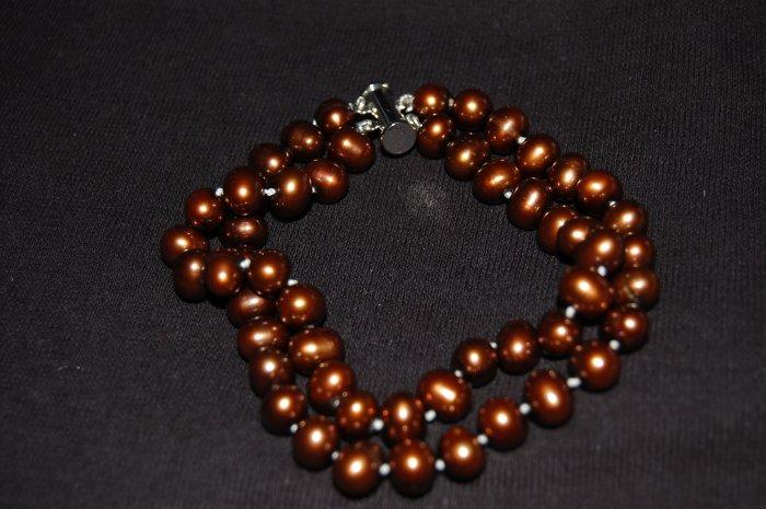 Double Strand Brown Bracelet