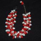 4 strand w/ coral Bracelet B1121