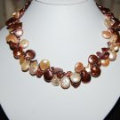 Double Strand Coin Pearl Necklace N1125
