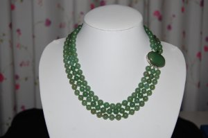 Triple Strand Jade necklace N1083