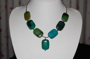 Stone and Bead Necklace N1158