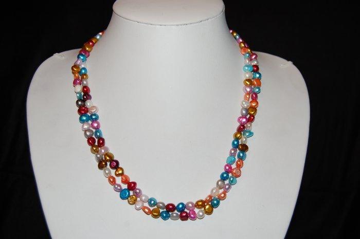 Multi Color  Single Strand Pearls