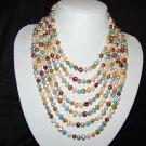 7 Strand Multi color necklace