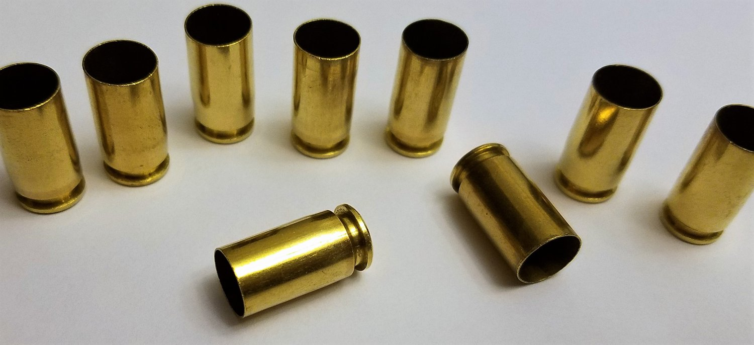 9mm Brass Casings 500ct Cleaned Tumbled Polished