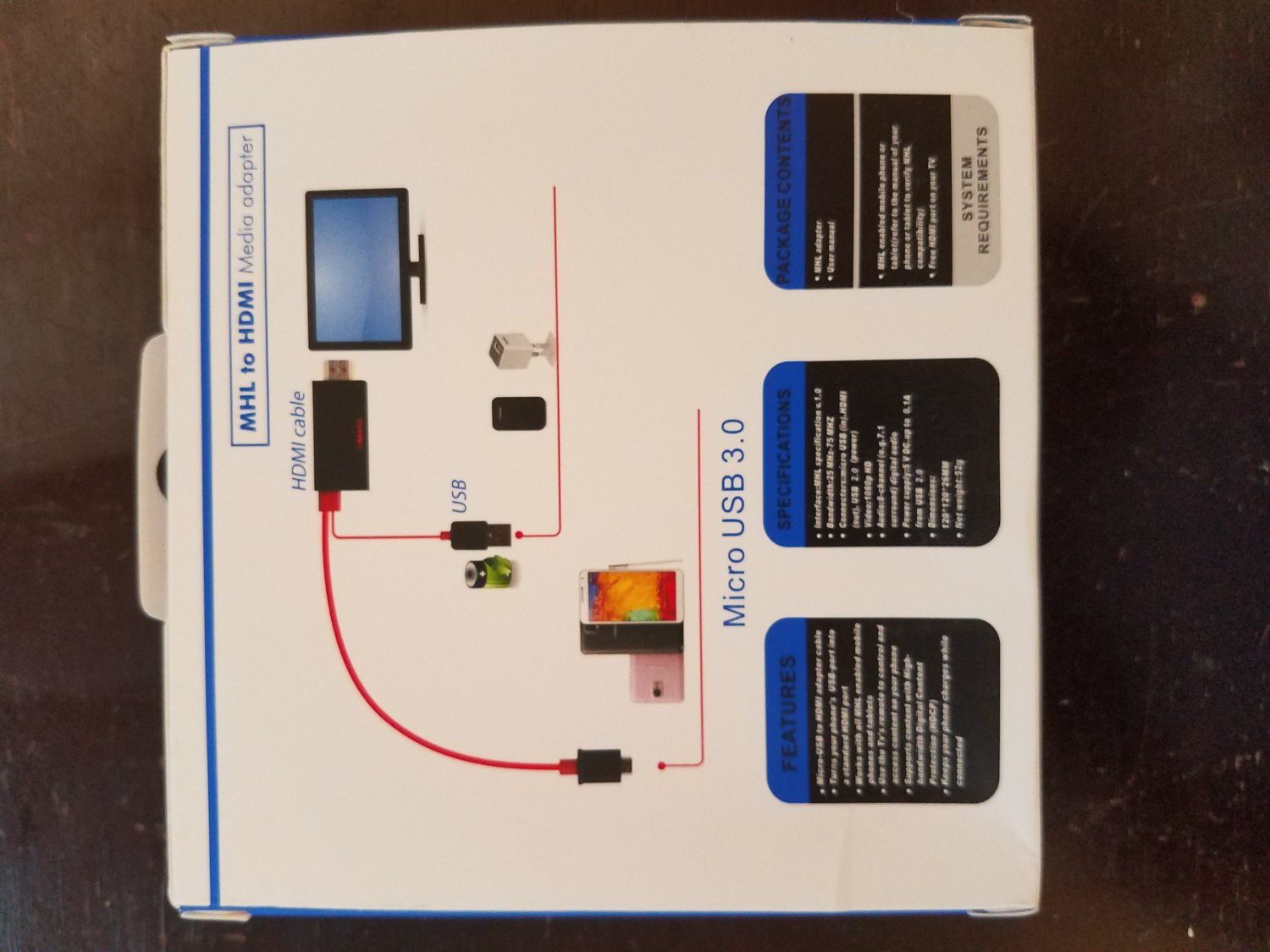 Medialink Micro USB3.0To HDMI Cable
