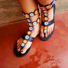 Hand Made Beaded Gladiator Sandals