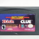 2005 DSI Games Battleship/Risk/Clue For Game Boy Advance & Nintendo DS Game Only