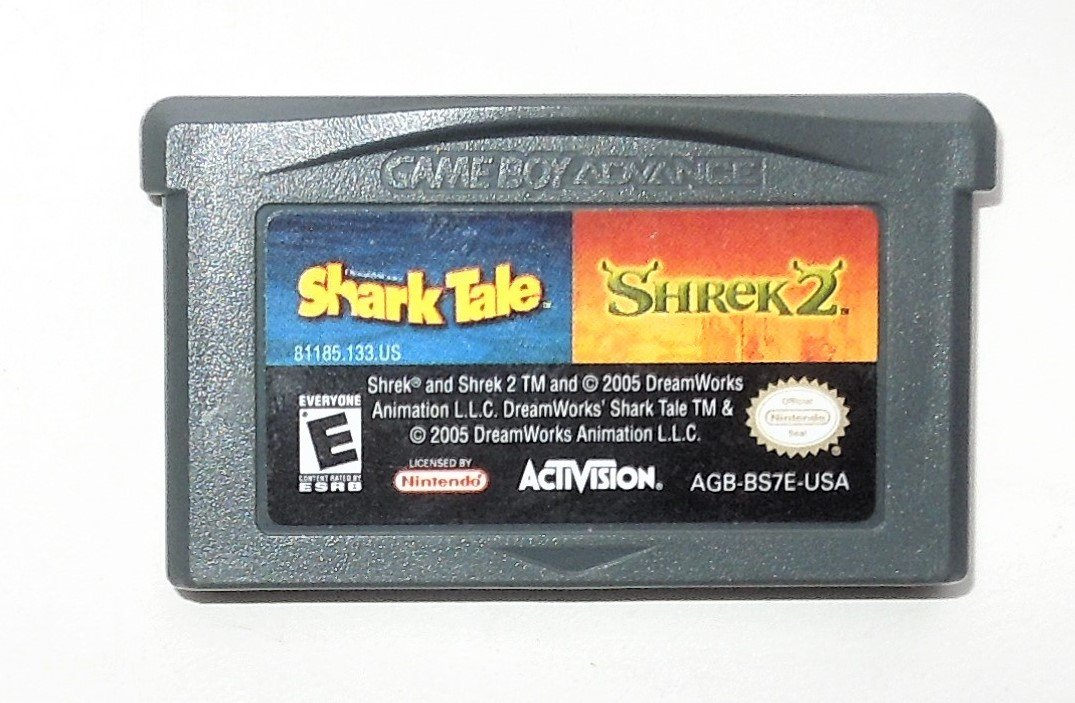 2005 Activision Shark Tale Shrek 2 2 Games In 1 For Game Boy Advance Game Only