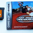 2002 Activision Tony Hawks Pro Skater 4 For Game Boy Advance system W/Manual