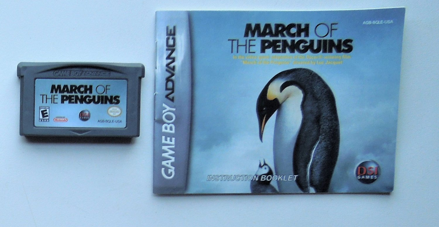 2006 DSI Games March Of The Penguins For Game Boy Advance Game system With Manual