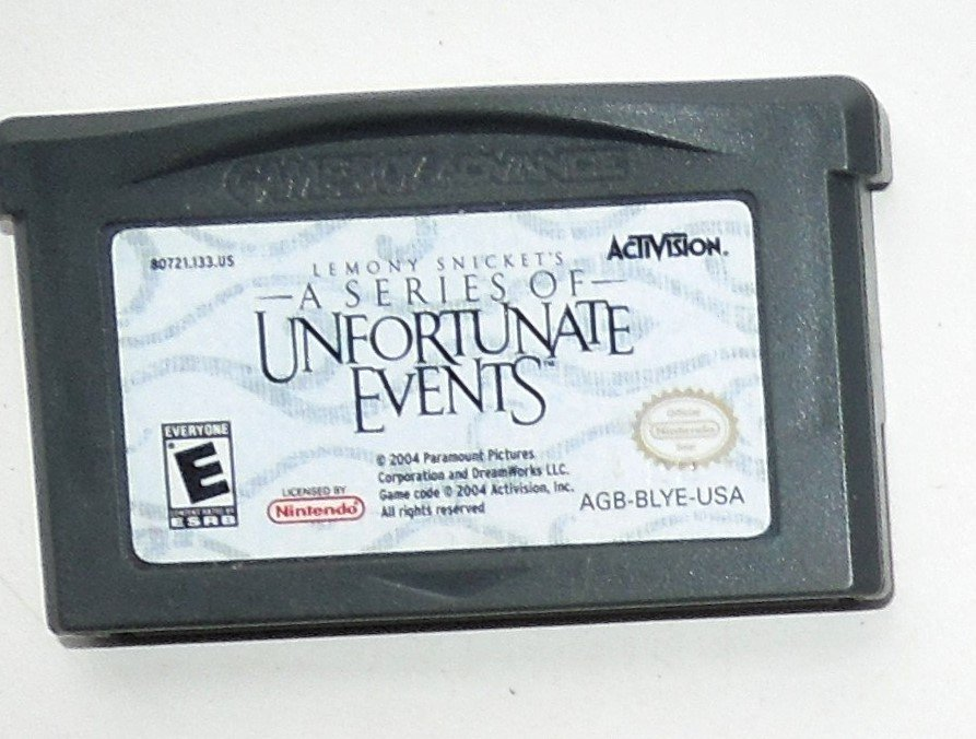 2004 Activision A Series Of Unfortunate Events For Game Boy Advance