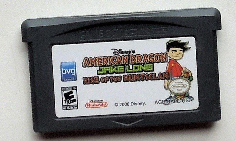 2006 BVG American Dragon Jake Long Rise Of The Huntsclan For Gameboy Advance