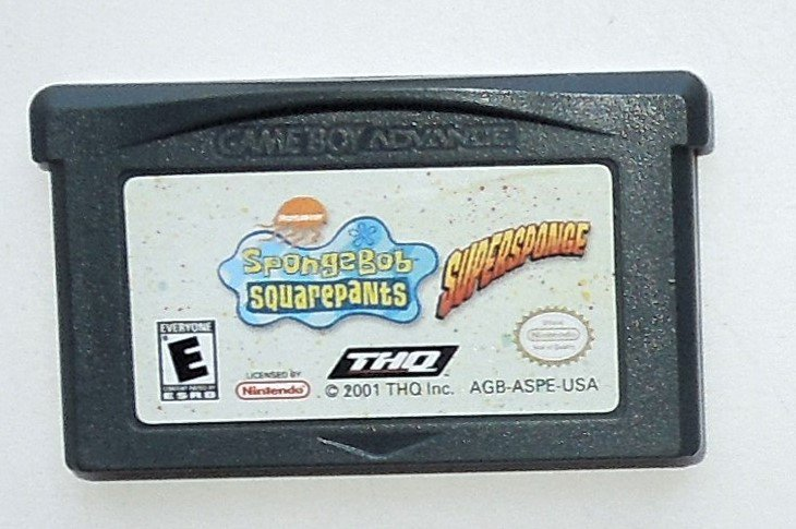 2001 THQ Spongebob Squarepants Supersponge For Game Boy Advance & Nintendo DS
