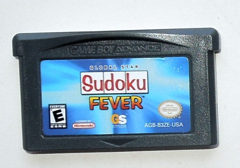 2006 Global Star Sudoku Fever For Game Boy Advance & Nintendo DS Game systems