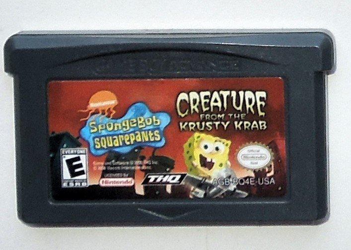 2006 THQ Spongebob Squarepants Creature From The Krusty Krab Game Boy Advance