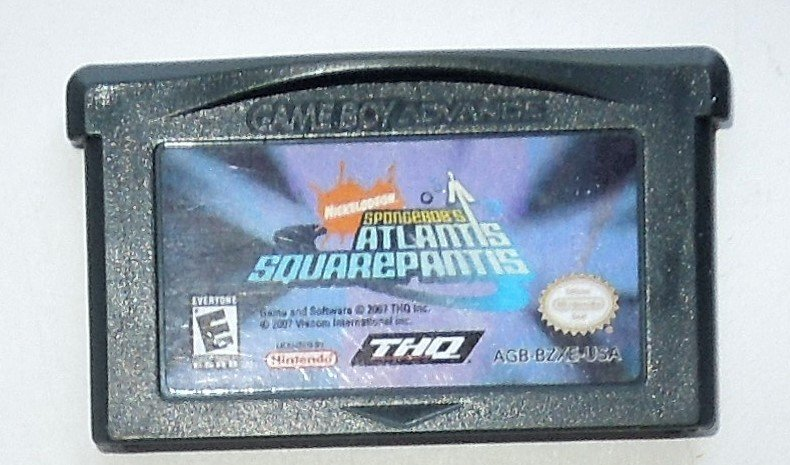 2007 THQ Spongebob's Atlantis Squarepantis For Game Boy Advance & Nintendo DS