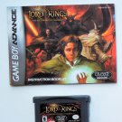 2002 Lord Of The Rings Fellship Of The Rings  For Game Boy Advance With Manual
