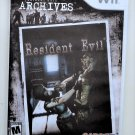 2008 Capcom Resident Evil Archives For Wii Game Systems