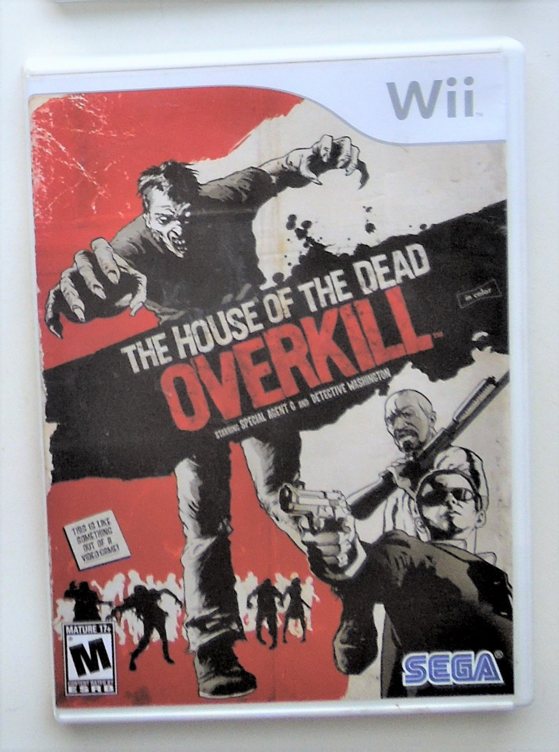 2009 Sega The House Of The  Dead Overkill For Wii Game Systems