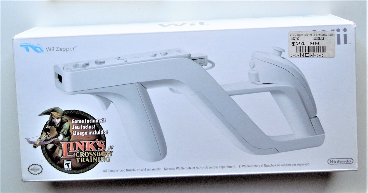 A-2007 Nintendo Link's Crossbow Training With Zapper For Wii Game Systems In Box