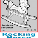 "Rocking Horse #802 - Woodworking / Craft Pattern 22"" x 8 x 20"""