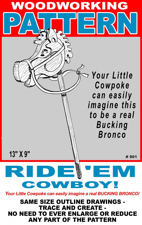 "Ride 'Em Cowboy #801 - Woodworking / Craft Pattern 9' x 13"""