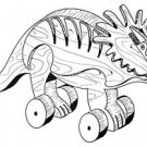 STYRACOSAURUS Pull or Play Toy   #401-  Woodworking / Craft Pattern