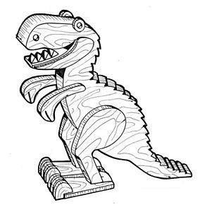 Allosaurus Play Toy #403 -  Woodworking / Craft Pattern