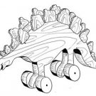 STEGOSAURUS Pull or Play Toy   #402 -  Woodworking / Craft Pattern