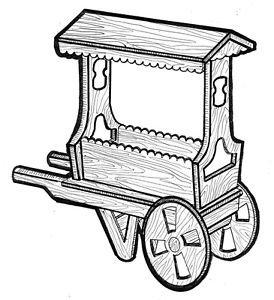 Flower Cart #710 - Woodworking / Craft Pattern